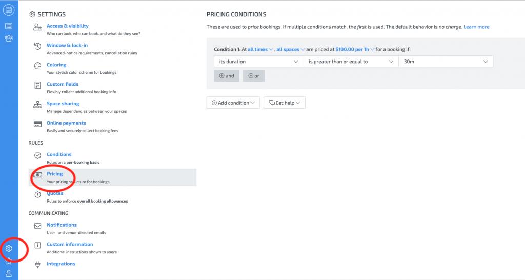 skedda - custom pricing rules